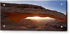 Mesa Arch Panorama Acrylic Print by Andrew Soundarajan