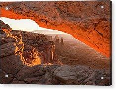 Mesa Arch Sunrise 5 - Canyonlands National Park - Moab Utah Acrylic Print