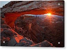 Mesa Arch Sunrise Acrylic Print by Barbara Read
