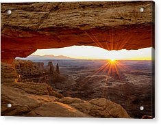 Mesa Arch Sunrise - Canyonlands National Park - Moab Utah Acrylic Print by Brian Harig