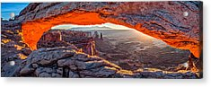 Mesa Arch Sunrise - Canyonlands National Park Panoramic Composite Photograph Acrylic Print by Duane Miller