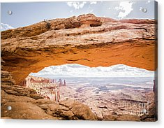 Mesa Arch Sunrise Acrylic Print by JR Photography