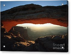 Mesa Arch Sunrise Acrylic Print by Stan and Anne Foster