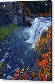 Mesa Falls In The Fall Acrylic Print