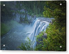 Mesa Falls - Yellowstone Acrylic Print by Dan Pearce