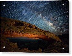 Mesa Star Storm Acrylic Print by Darren White