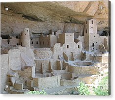 Acrylic Print featuring the digital art Mesa Verde Community by Gary Baird