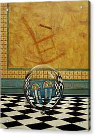 Mesiendonos Eternamente -diptych Left Side- Acrylic Print
