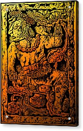 Mesoamerican  Mayan Figure Eight Century Mexico Acrylic Print by Larry Butterworth
