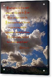 Message From God Acrylic Print by Glenn McCarthy Art and Photography