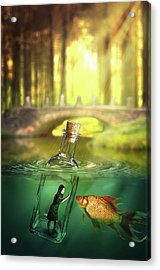 Acrylic Print featuring the digital art Message In A Bottle by Nathan Wright