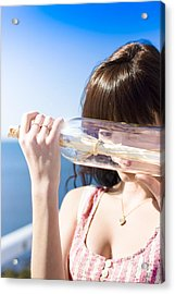Message In A Bottle Acrylic Print by Jorgo Photography - Wall Art Gallery