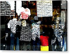 Messed Up Fashion Acrylic Print by Jez C Self