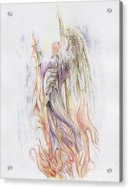 Messenger Acrylic Print by Morgan Fitzsimons