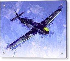 Messerschmitt Bf 109 Acrylic Print by Michael Tompsett
