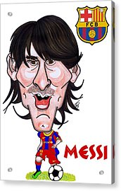 Messi Acrylic Print by Tom Glover