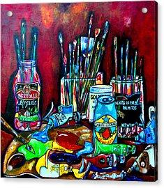 Messy Paints II Acrylic Print by Patti Schermerhorn