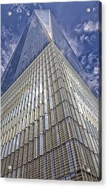 Metal And Glass Highrise Office Building Acrylic Print by Robert Ullmann