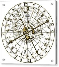Metal Astronomical Clock Acrylic Print