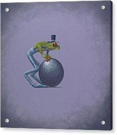 Metal Ball Acrylic Print by Jasper Oostland