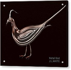 Metal Bird Acrylic Print by Jerry White