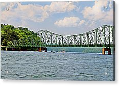 Metal Bridge Over A Lake Acrylic Print