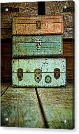 Metal Boxes Acrylic Print by Tom Mc Nemar