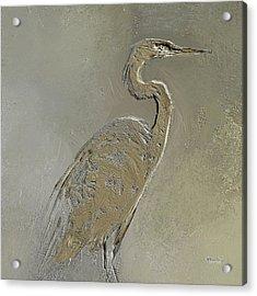 Metal Egret 3 Acrylic Print