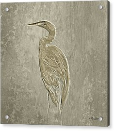 Metal Egret 4 Acrylic Print
