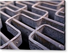 Metal Grating In Downtown Winter Park Florida Acrylic Print