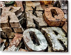 Metal Letters Acrylic Print by Photo Captures by Jeffery