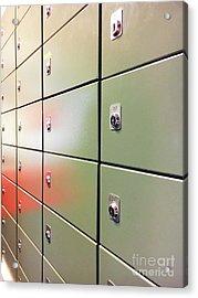 Metal Mail Lockers Acrylic Print by Tom Gowanlock