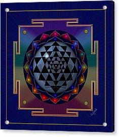 Metal Mandala Acrylic Print