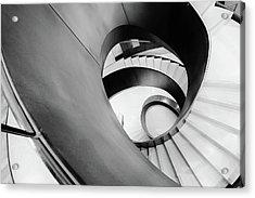 Metal Spiral Staircase London Acrylic Print