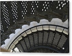 Metal Stair Case Acrylic Print by Linda Geiger