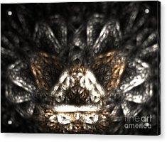 Metallic Chaise Acrylic Print by Kim Sy Ok