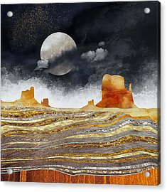 Metallic Desert Acrylic Print by Spacefrog Designs