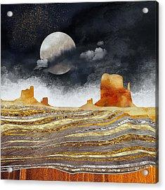 Metallic Desert Acrylic Print