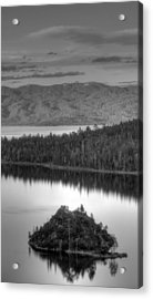 Metallic Emerald Bay  Acrylic Print