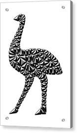 Metallic Emu Acrylic Print by Chris Butler