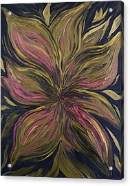 Metallic Flower Acrylic Print