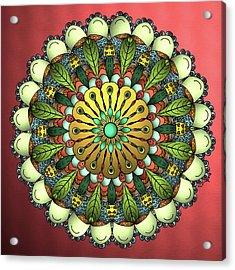Metallic Mandala Acrylic Print