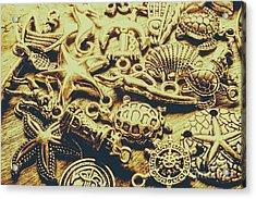 Metallic Marine Scene Acrylic Print