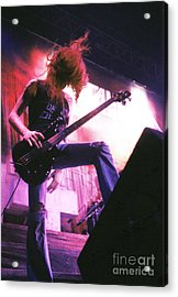 Metallica 1986 Cliff Burton Acrylic Print by Chris Walter