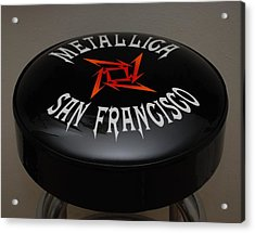 Metallica Bar Stool Acrylic Print by Rob Hans