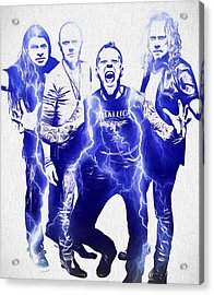 Metallica Acrylic Print by Dan Sproul