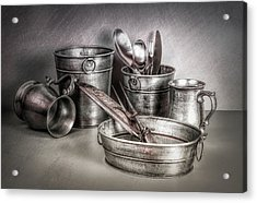 Metalware Still Life Acrylic Print by Tom Mc Nemar