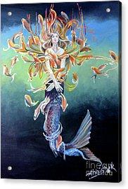 Metamophism ... Jalpari Acrylic Print by Abhishek Chauhan