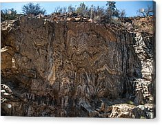 Metamorphic Geologic Wall In Kings Canyon Giant Sequoia National Monument Sequoia National Forest Acrylic Print