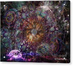 Metamorphignition Acrylic Print by Rhonda Strickland